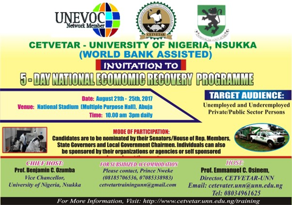 INVITATION TO NATIONAL ECONOMIC RECOVERY PROGRAMME